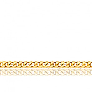 Cadena Barbada 90 cm Oro Amarillo