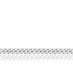 Cadena Barbada de 50cm Oro Blanco de 9k