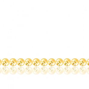 Cadena de Bolas juntas 70 cm de oro 18 quilates