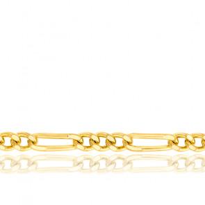 Cadena Figaro 1x3 45 cm Oro Amarillo