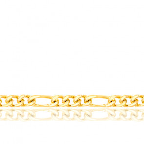 Cadena Figaro 1x3 60 cm Oro Amarillo