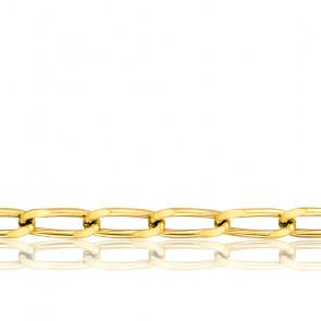 Cadena Bilbao 50 cm Oro Amarillo