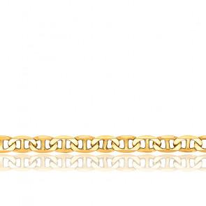 Cadena Marina Plana 45 Oro Amarillo 18k