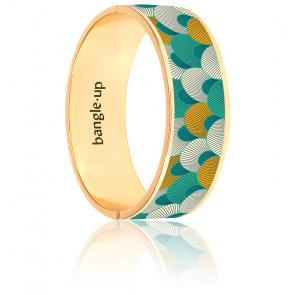 Pulsera Kango verde Arcadia bañada en oro