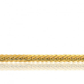 Cadena inglesa hueca 45cm Oro Amarillo 18k