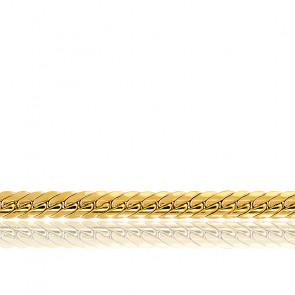 Cadena inglesa hueca 60cm Oro Amarillo 18k