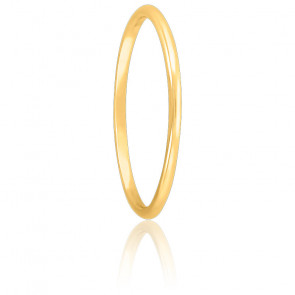 Alianza de boda oro elegante de tipo caña confort 1mm