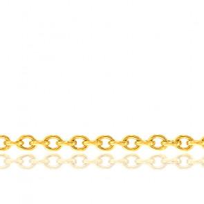 Pulsera Cadena Forzada Redonda 14 cm ajustable Oro Amarillo
