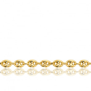Pulsera Calabrote Maciza Oro Amarillo 16 cm