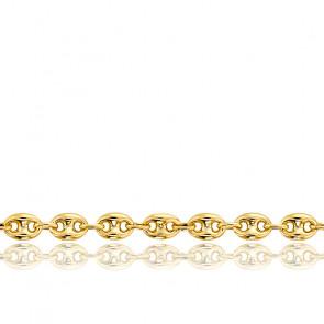 Pulsera Calabrote Maciza Oro Amarillo 18 cm