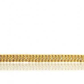 Pulsera Cadena Americana hueca, 16cm Oro Amarillo 18k