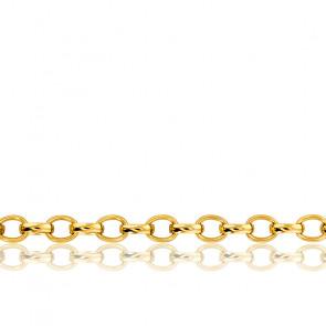 Cadena Rolo 42 cm de Oro Amarillo 18K