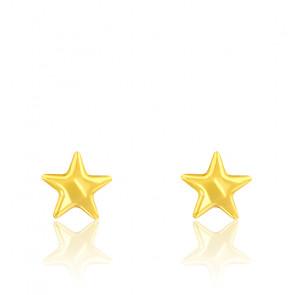 Pendientes de estrella de oro amarillo de 9 quilates