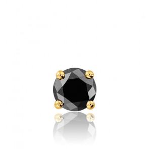 1 Pendiente diamante negro y oro amarillo