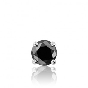 1 pendiente Plata y diamante negro