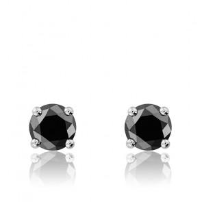 Pendientes Diamante Negro 2x 0,50ct