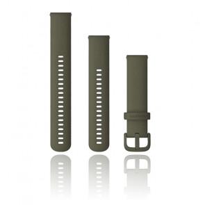 Correa de reloj de liberación rápida de silicona gris 010-13021-06