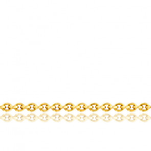Cadena Forzada 0,60 mm, oro amarillo 18k