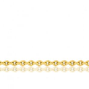 Cadena forzada ajustable, oro amarillo de 18 quilates