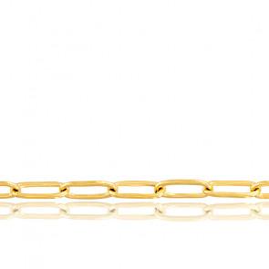 Cadena Malla ovalada, oro amarillo de 18k