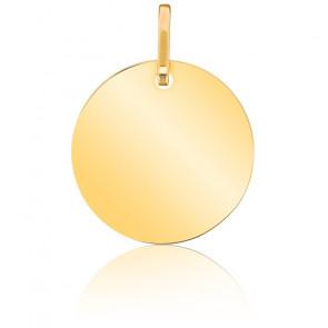 Medalla Disco Solar Oro Pulido