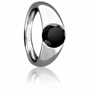 Anillo Tentation Diamante negro 1,00ct peso