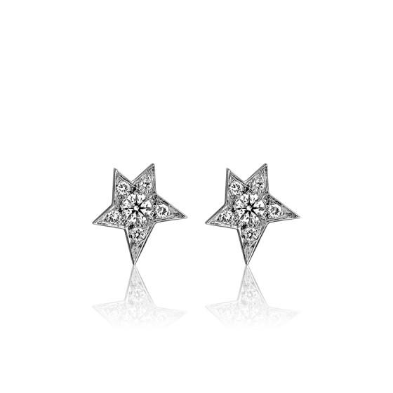 6def42e4ddf1 Pendientes de Novia Estrella oro blanco y diamantes - Ocarat