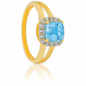 Anillo Edelweiss Topacio y Diamantes