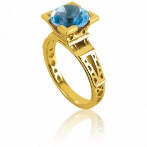 Anillo French Kiss Oro Amarillo y Topacio