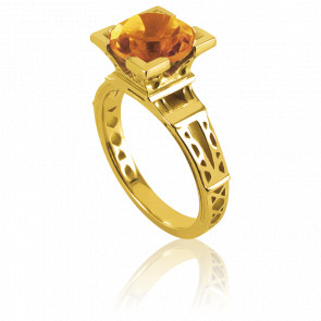 Anillo French Kiss Oro Amarillo y Citrino