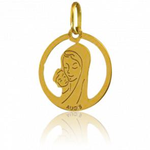 Medalla Santa Madona redonda calada