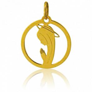 Medalla Virgen Orando Calada Redonda