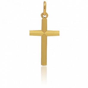 Cruz simple 16 x 11mm Oro amarillo