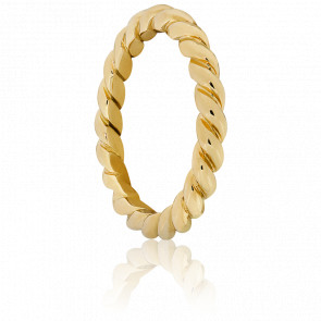 Anillo Espiral Pianosa Oro Amarillo