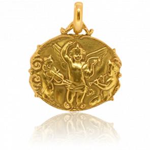 Medalla Ángeles Ovalada