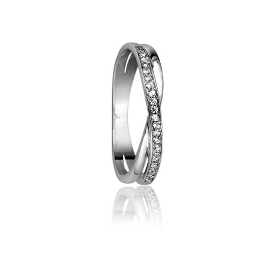 6338920d8722 Anillo de Oro Blanco 18k y Diamantes de Emanessence - Ocarat