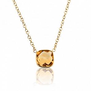 Collar Angela Oro Amarillo y Citrino