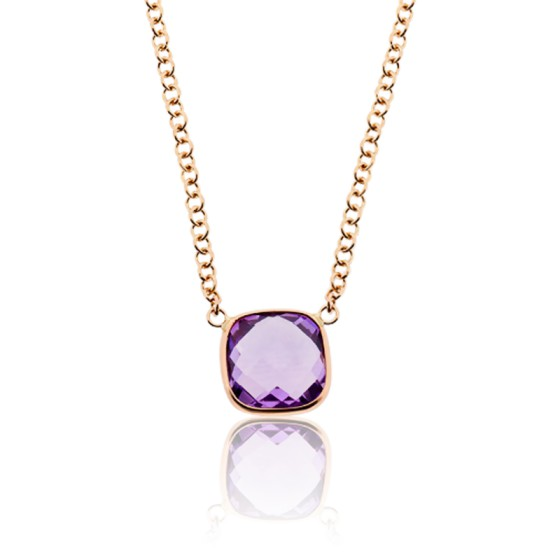 6ecc756e5b00 Collar Oro Rosa 18kt y Amatista Angela- Dolce Vita - Ocarat