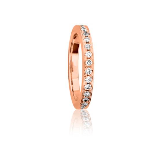 d9338c6779d9 Alianza Plana Diamantes Blancos 0.50 kt y Oro Rosa