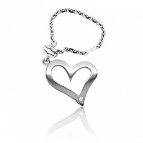 Llavero Corazón Calado Diamante