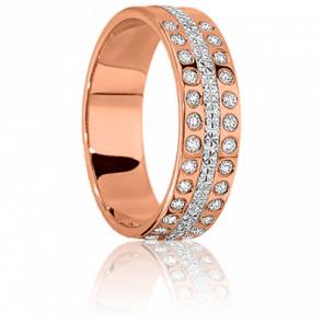 Alianza rosa Matinale, oro rosa y diamantes
