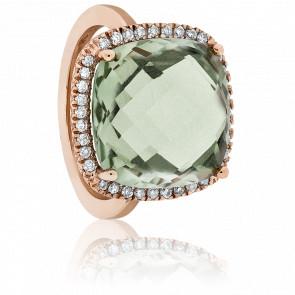 Anillo Aénor Oro Rosa Amatista Verde y Diamantes