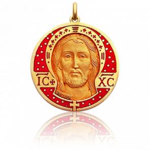 Medalla Cristo, Esmalte rojo