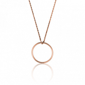 Collar Círculo Oro Rosa Ø 17 mm