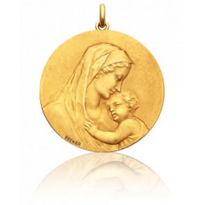 Medalla redonda Virgen de la maternidad