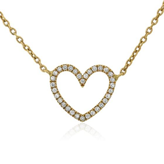 164b438fe0ef Collar de oro 18k y diamantes Corazón de Allegoria - Ocarat
