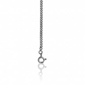 Cadena Barbada Plata diamantada 45cm.