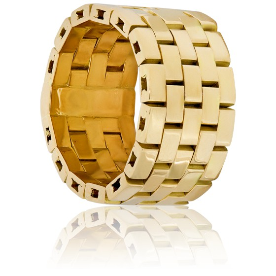 da82ceb3b527 Anillo con un diseño de Cadena de Oro Amarillo 18k - Ocarat