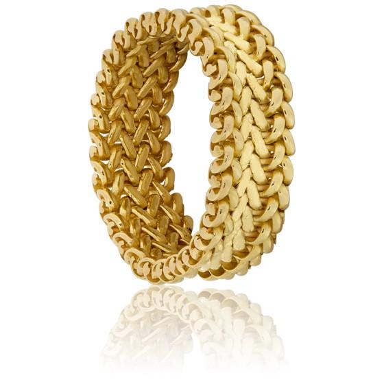 2128442ffd6e Moderno anillo de Oro Amarillo 18k de Cadena - Ocarat