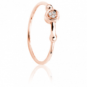 Anillo Swing Rosa& Diamantes